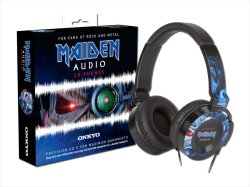 Photo1: NEW IRON MAIDEN Steve Harris Headphone ONKYO w/ 2 x Posters NEW